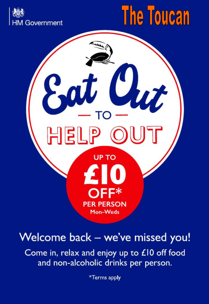 eat out to help out offer for August 2020